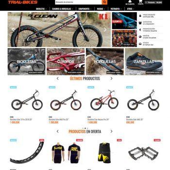 Trial-Bikes tienda de especializada en el mundo del trial de bicicletas. Trialbikes tienda online outlet