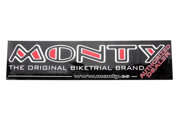 Monty Authorized Dealer Sticker