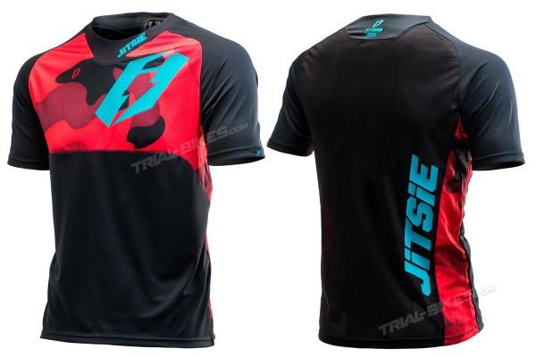 Camiseta Jitsie B3 Squad Rojo/Azul cerceta