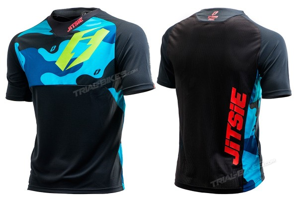 Jitsie B3 Squad Navy/Fluro Green Race Shirt