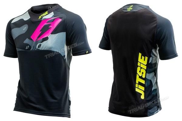 Camiseta Jitsie B3 Squad Violeta/Amarillo Fluo