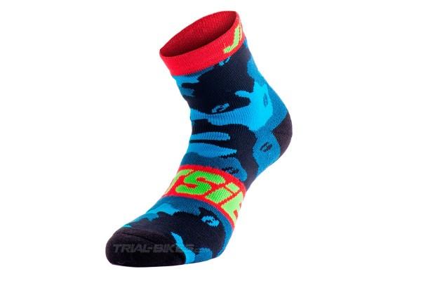 Jitsie B3 Squad Navy/Fluro Green Socks