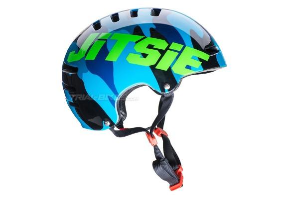 Jitsie Armor Squad Navy/Fluro Green Helmet