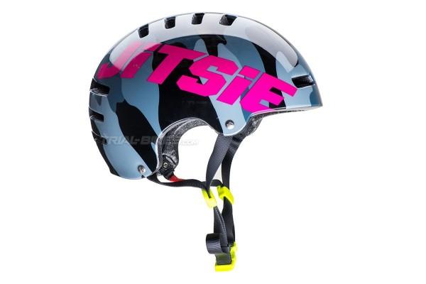 Jitsie Armor Squad Fluro Yellow/Violet Helmet