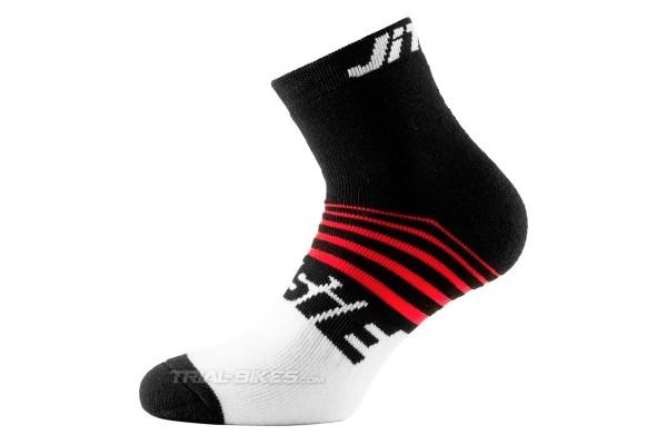 Jitsie Airtime Black/Red Socks