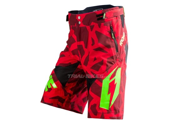 Jitsie Armor Kroko Red/Fluro Green Short