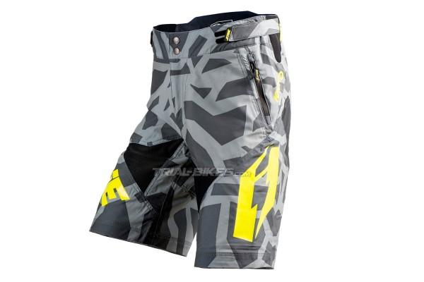 Jitsie Armor Kroko Silver/Fluro Yellow Short
