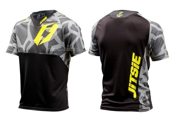 Camiseta Jitsie B3 Kroko Gris/Amarillo Fluo
