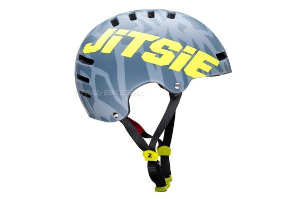 Casco Jitsie Armor Kroko Gris/Amarillo Fluo