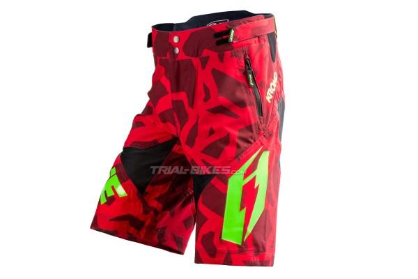 Pantalón corto Jitsie B3 Kroko Rojo/Verde Fluo KID