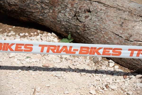 Cinta de marcaje de zona TrialBikes BLANCA (250m)