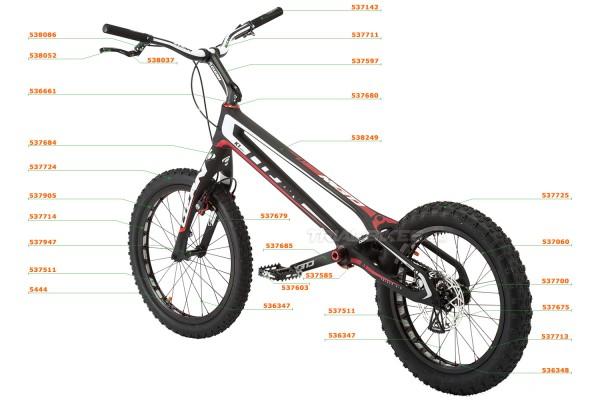 """Clean K1 20"""" Carbon Bike Part List"""