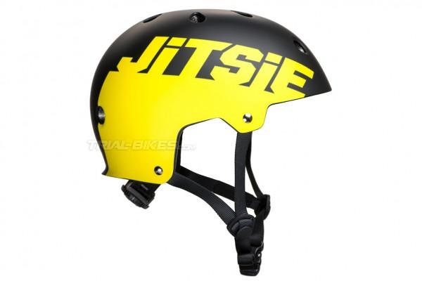 Jitsie C3 Solid Black/Yellow Helmet