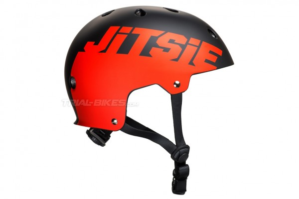 Jitsie C3 Solid Black/Red Helmet