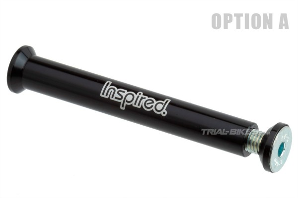 Inspired fork axle