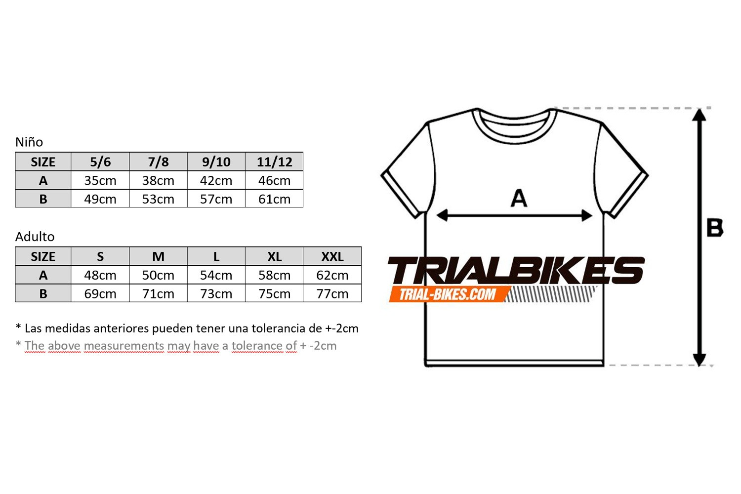 Camiseta TrialBikes naranja