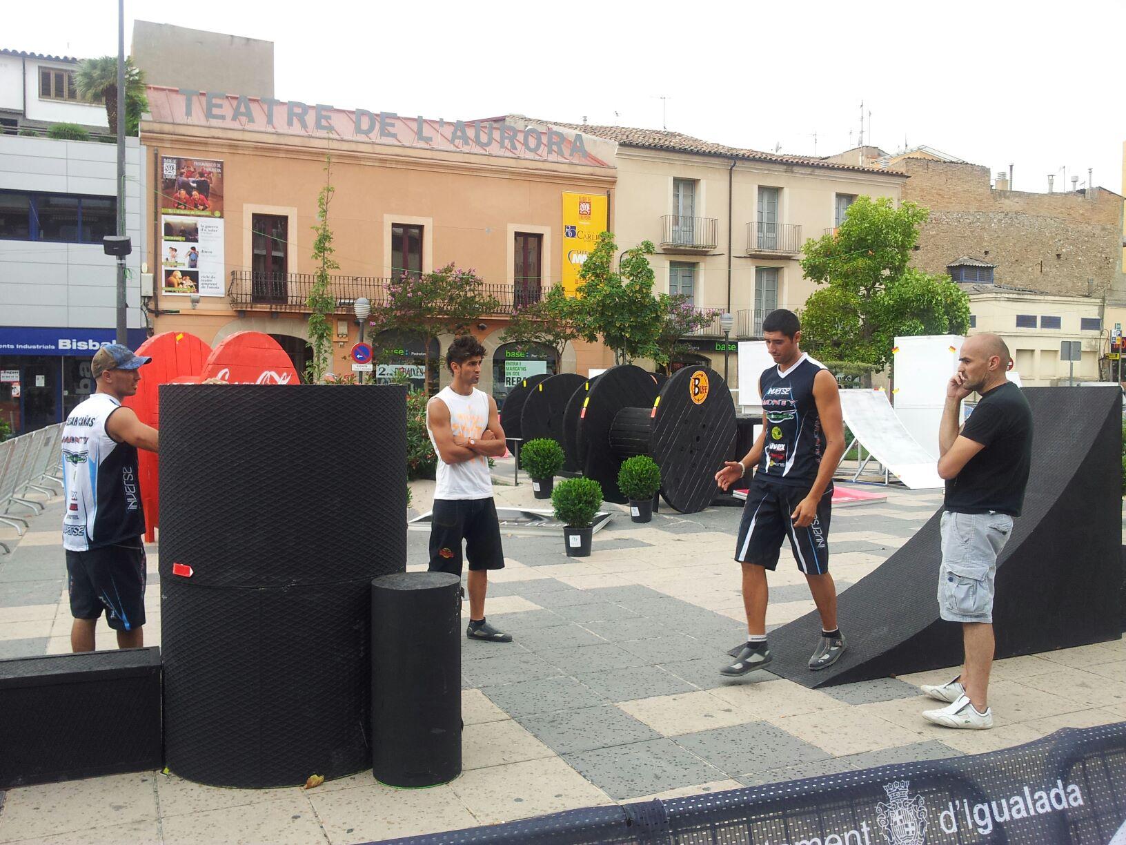 El equipo Trial-Bikes en el campeonato del mundo en Igualada
