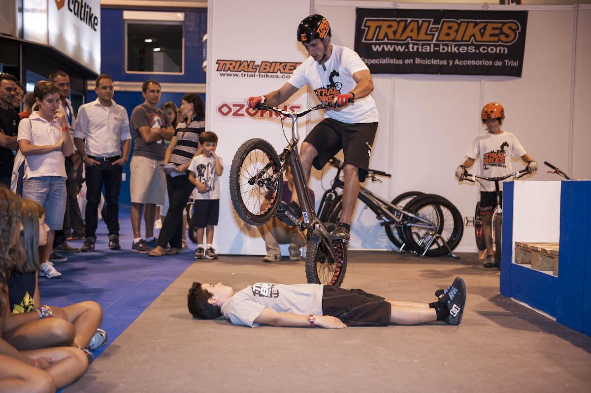 Borja Conejos del equipo Trial-Bikes en ExpoBike 2012