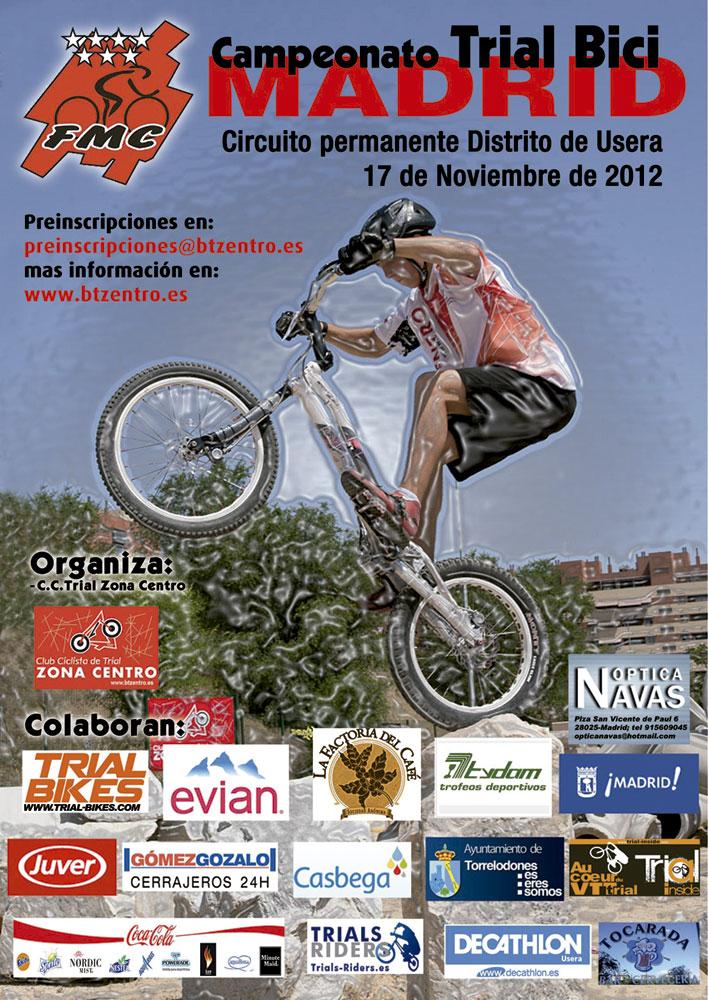 Cartel del Campeonato de Madrid de Trial Bici