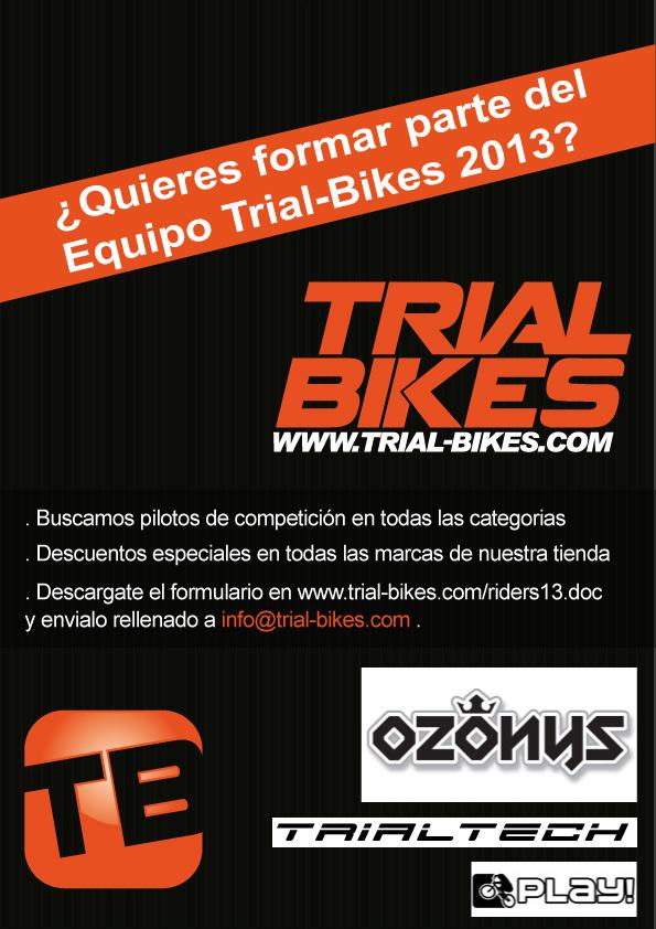 Buscamos Riders para el equipo Trial-Bikes