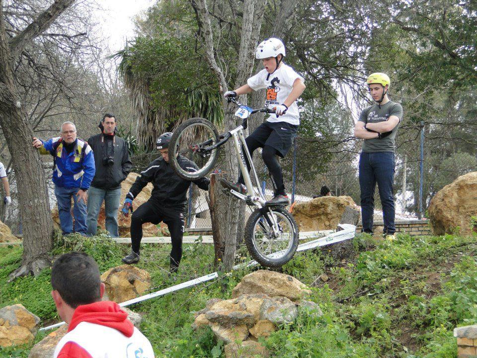 Riders del Equipo Infantil de Trial-Bikes en el Campeonato de Andalucia