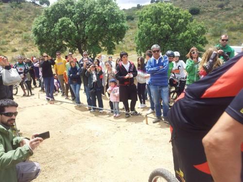 Público del campeonato de Bike Trial de Toledo