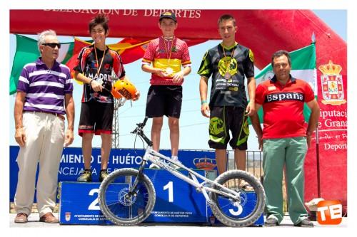 Podium Trial Bici Huétor Vega categoria Benjamin