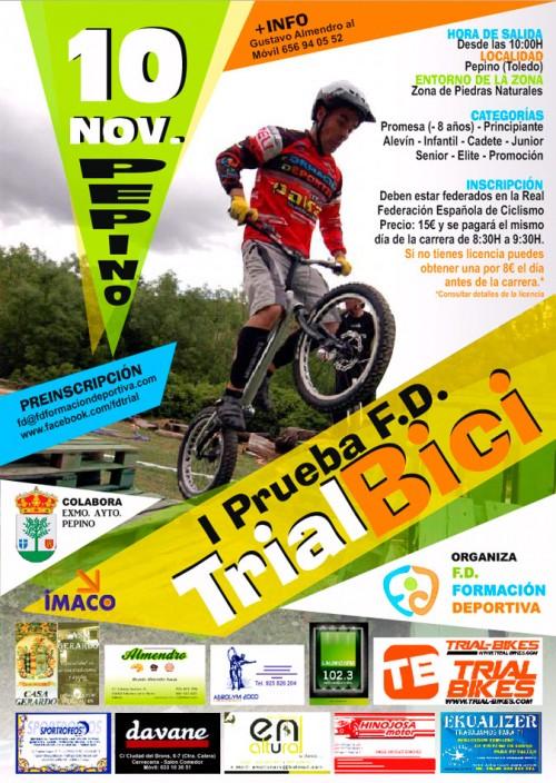 Campeonato de trial-bici. cartel_pepino