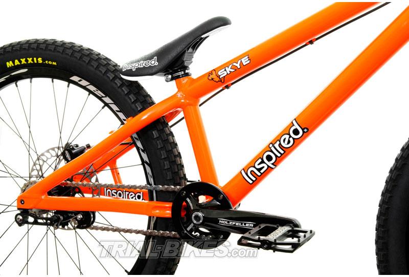 Detalle de la nueva bicicleta de Trial Inspired en Trial-Bikes