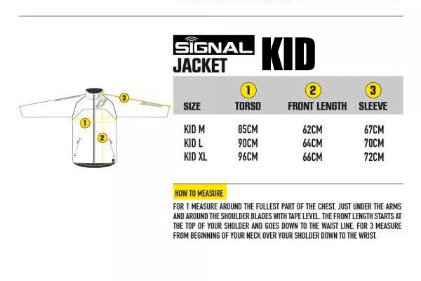 Tabla medidas chaqueta Jitsie